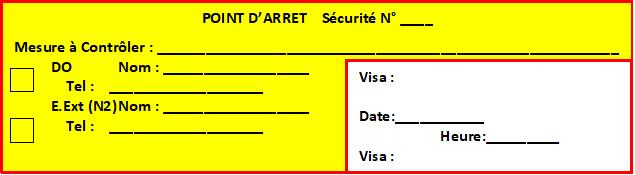 SECURITE – mandaté PDP, encart point d'arrêt